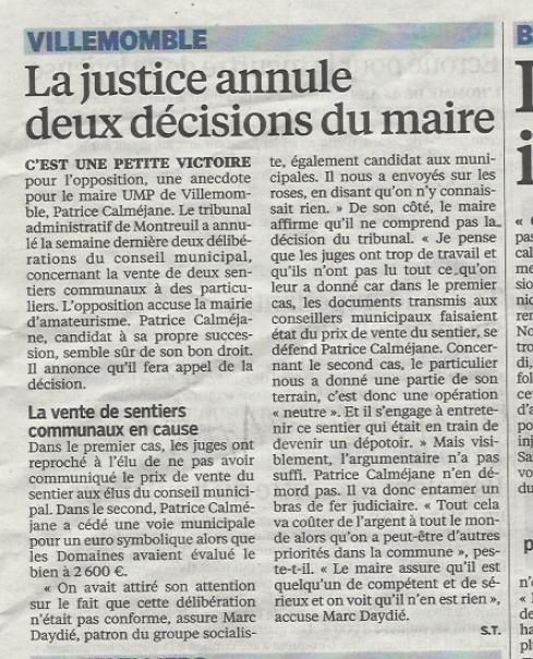 Parisien 12 mars 2014
